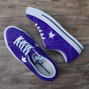 *New* Converse One Star OX Purple Suede Sneakers
